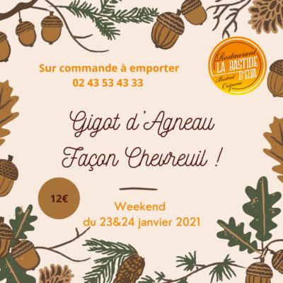 LA BASTIDE DELVA Restaurant Laval Gigot DAagneau Facon Chevreuil
