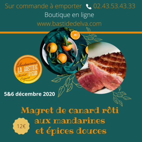 LA BASTIDE DELVA Restaurant Laval Magret De Canard1