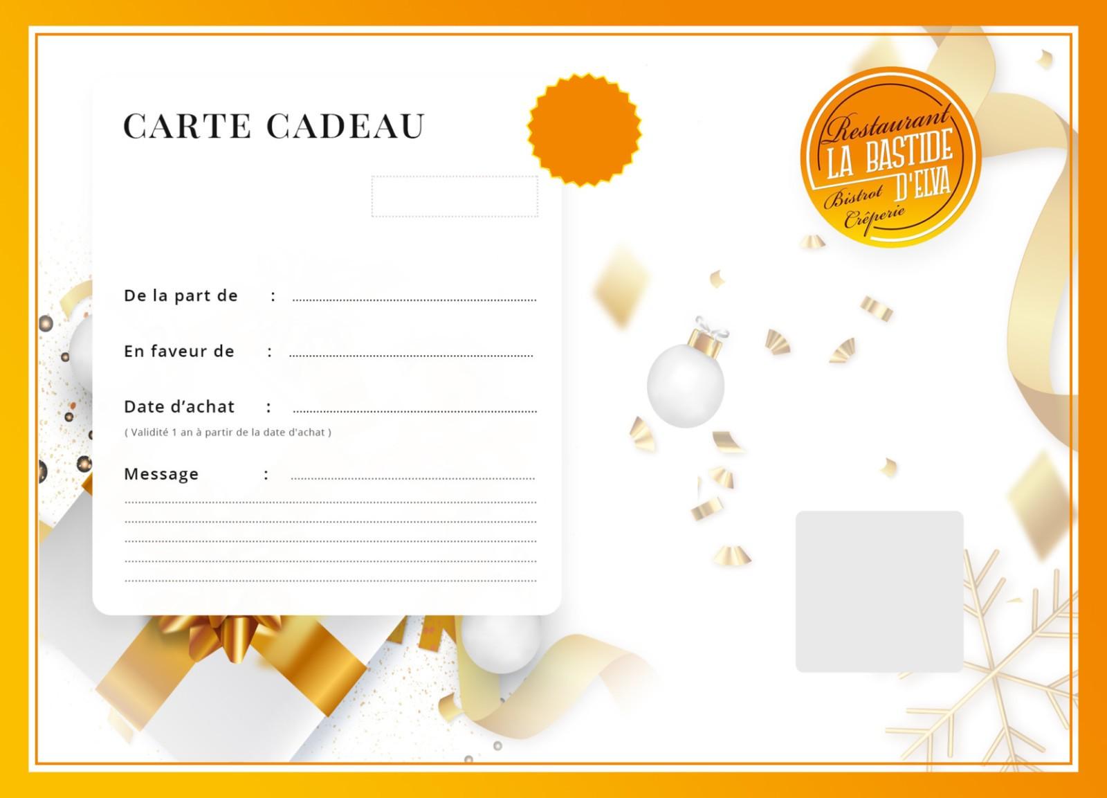 LA BASTIDE DELVA Restaurant Laval Carte Cadeau 2