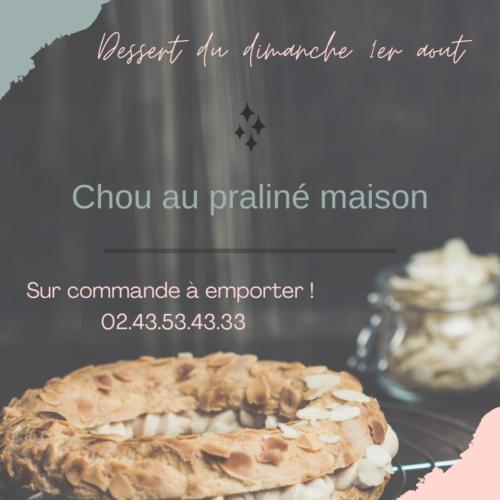 LA BASTIDE DELVA Restaurant Laval Dessert Du Dimanche 1er Aout